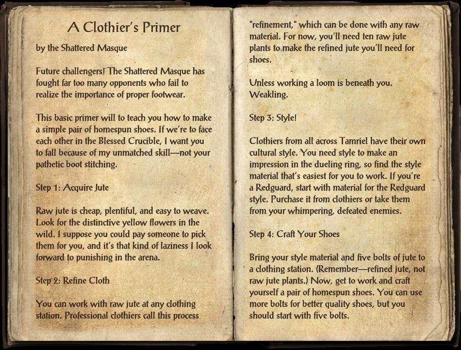A Clothier's Primer