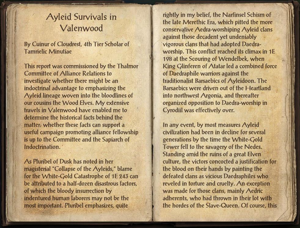 Ayleid Survivals in Valenwood