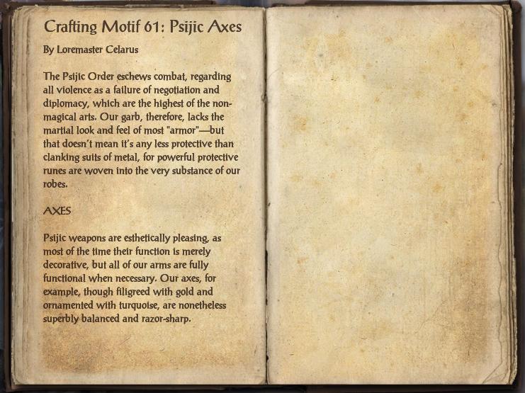 Crafting Motif 61: Psijic Style
