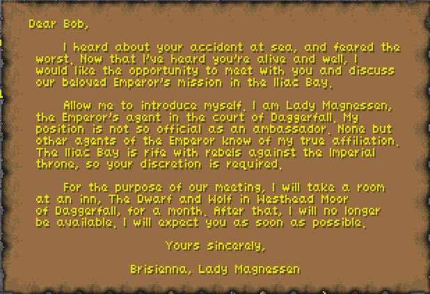 Letter from Brisienna