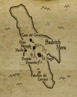 Sadrith Mora en la Guía de Sadrith Mora traducida con un mod al español