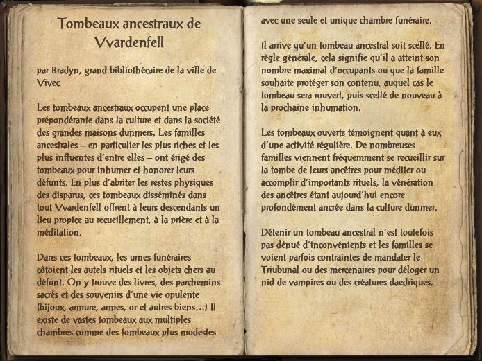 Tombeaux ancestraux de Vvardenfell