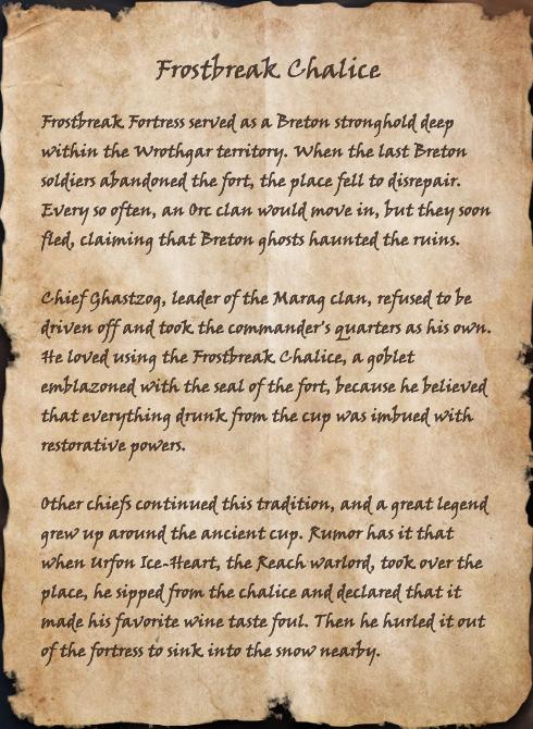 Frostbreak Chalice (Book)