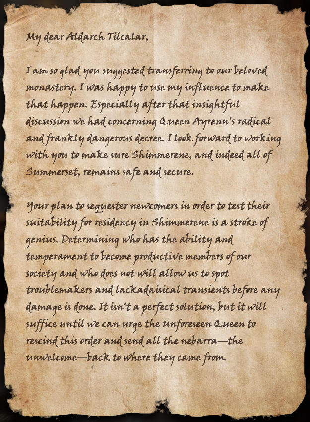 Kinlady's Letter