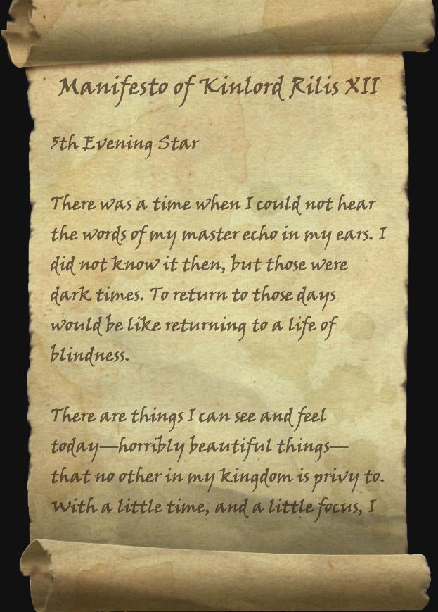 Manifesto of Kinlord Rilis XII