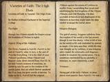 Varieties of Faith: The High Elves