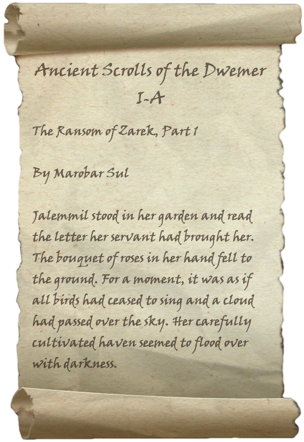 Ancient Scrolls of the Dwemer I-A