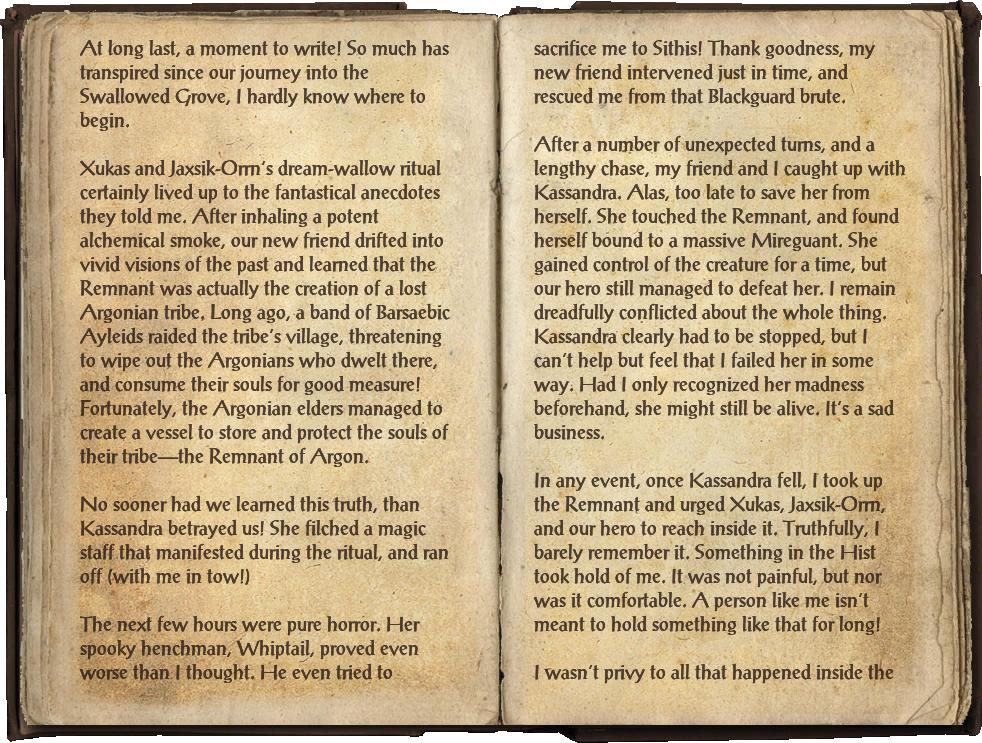 Famia Mercius's Journal, Part 3