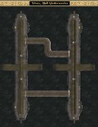 Hall Underworks Interior Map - Morrowind