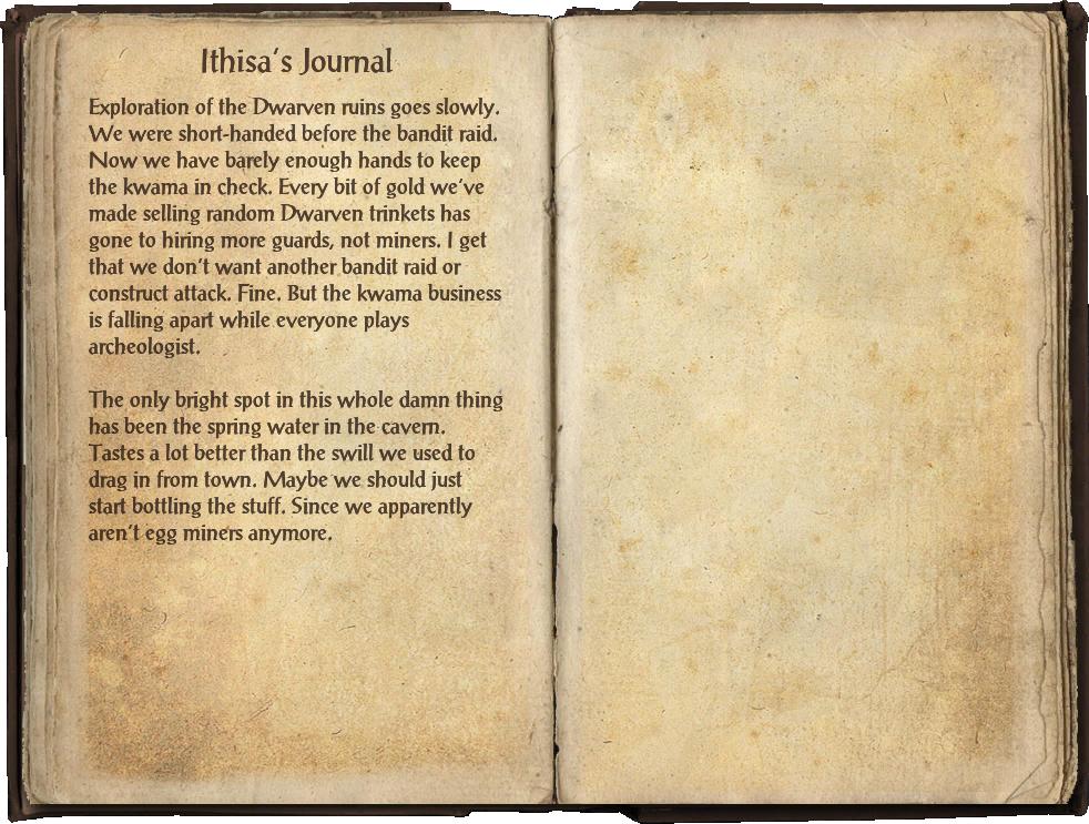 Ithisa's Journal