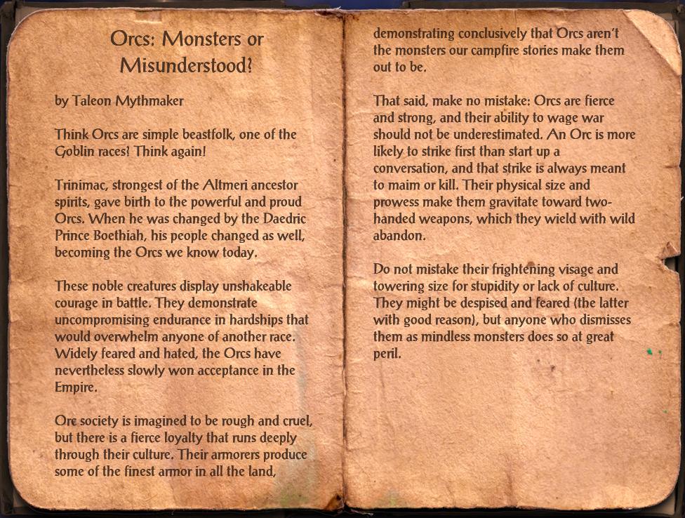 Orcs: Monsters or Misunderstood?