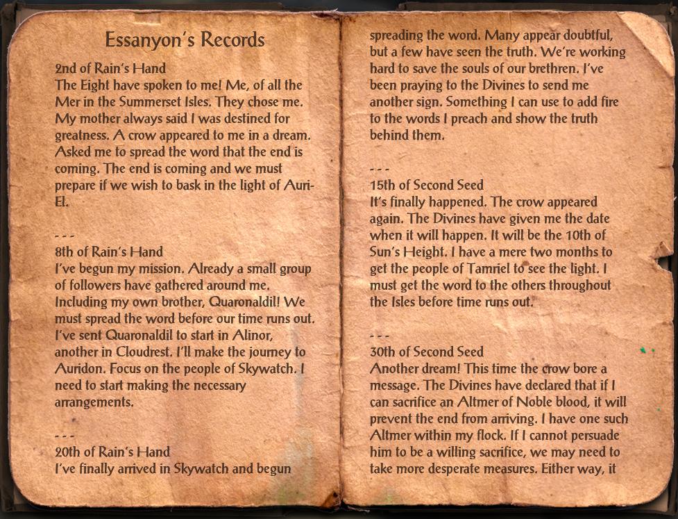 Essanyon's Records