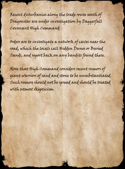 Daggerfall Covenant Missive