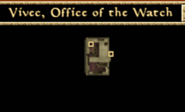 Office of the Watch Interior Map - Morrowind