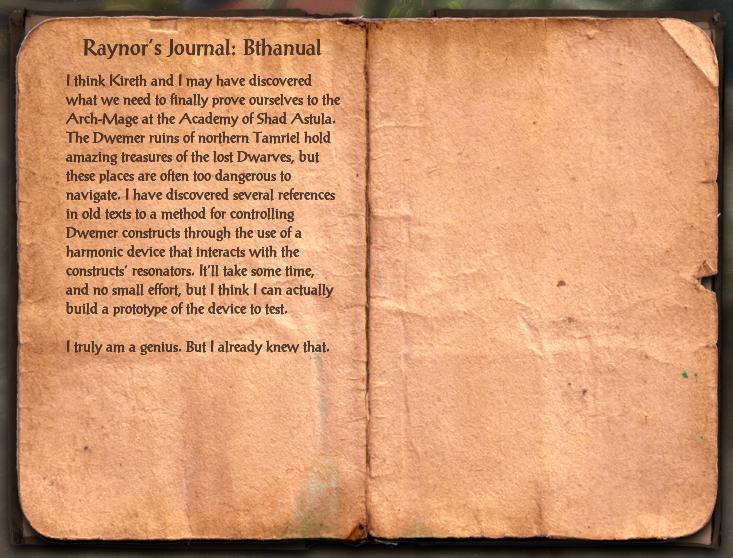 Raynor's Journal: Bthanual