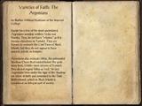 Varieties of Faith: The Argonians