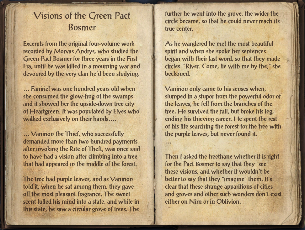Visions of the Green Pact Bosmer
