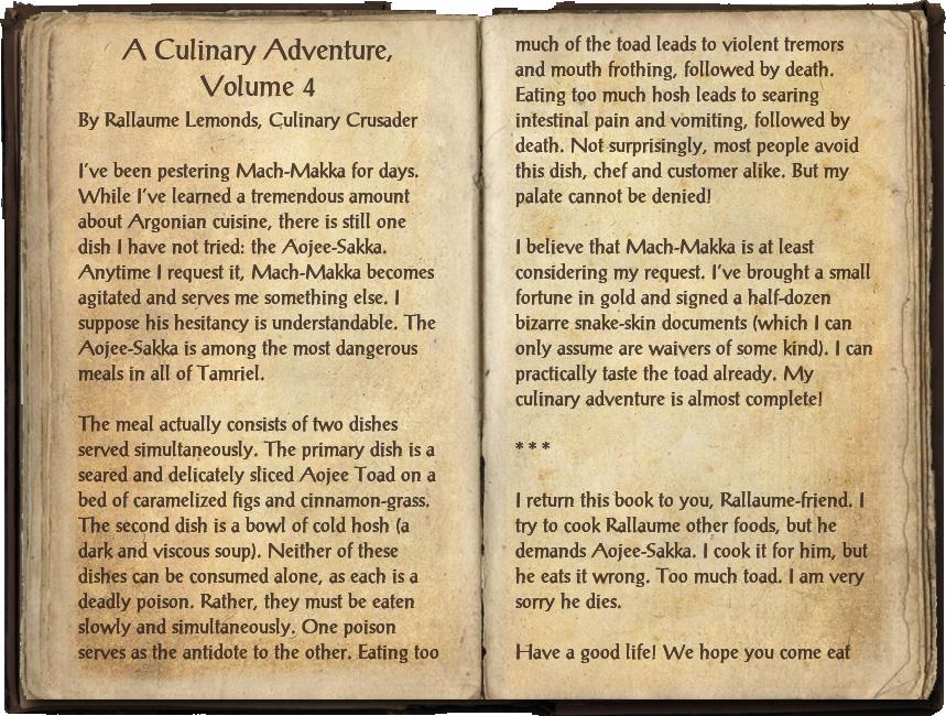 A Culinary Adventure, Volume 4
