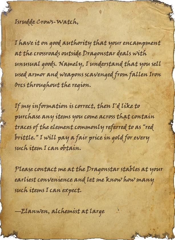 Letter to Isrudde