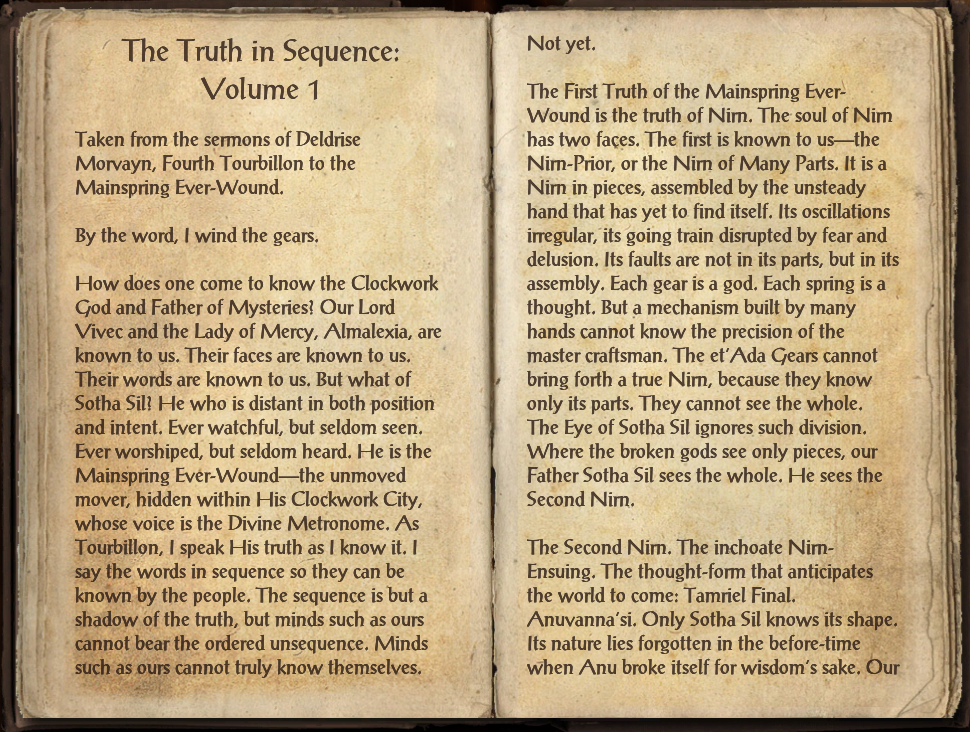 The Truth in Sequence: Volume 1