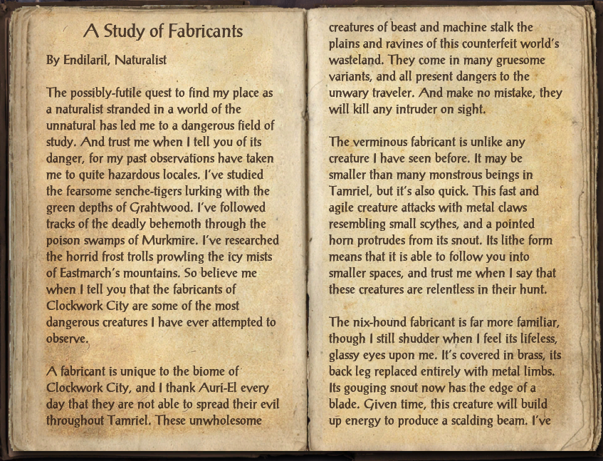 A Study of Fabricants