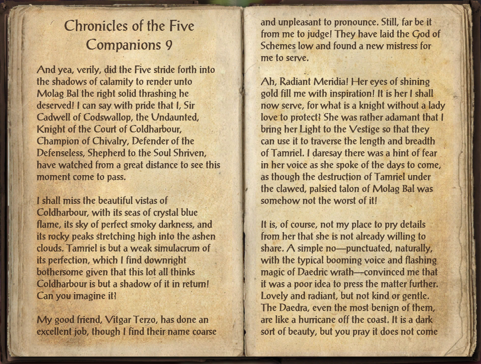 Chronicles of the Five Companions 9