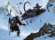 Niedźwiedź i martwy mamut (Conceptart) by Ray Lederer