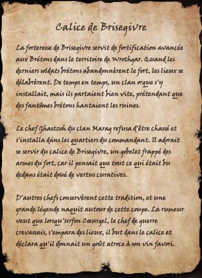 Calice de Brisegivre (Livre)