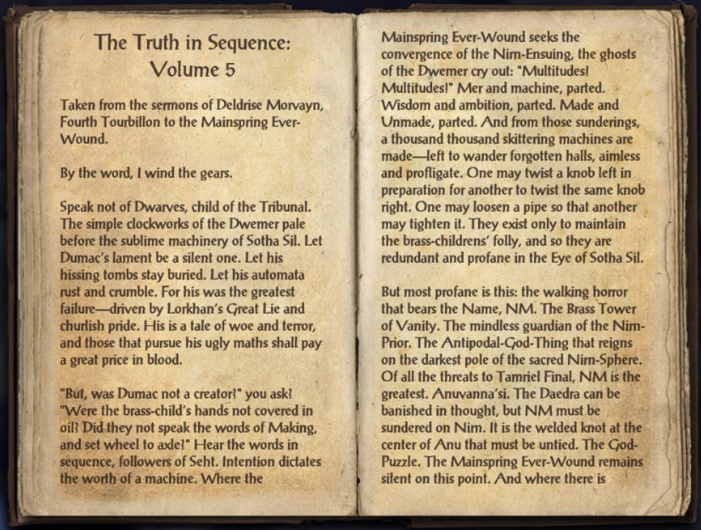 The Truth in Sequence: Volume 5
