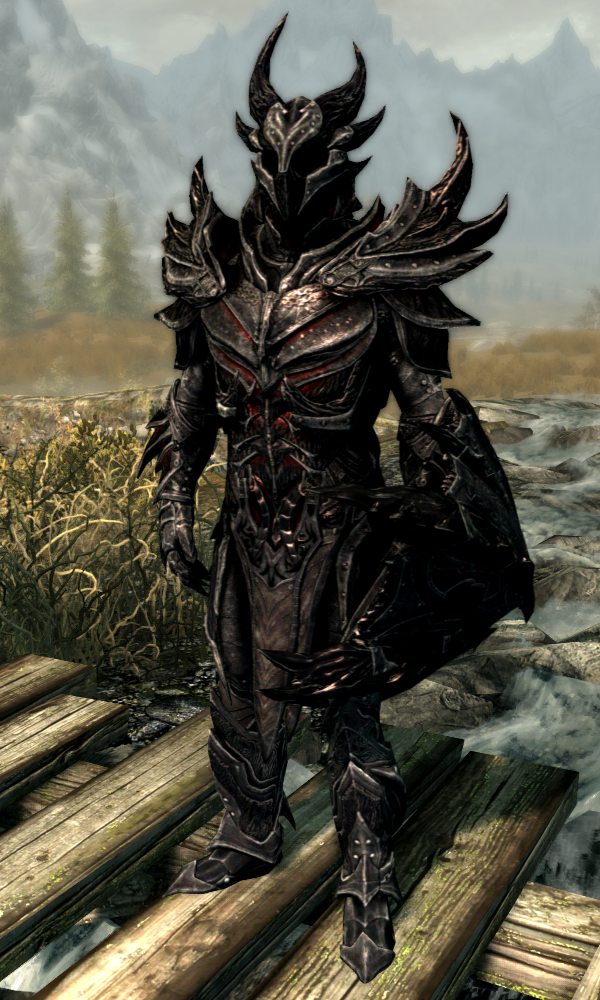 Daedric Armor Skyrim Elder Scrolls Fandom (may be performance heavy for low end mod list users) valkyrie armor (female only) dragonlord armor (male only). daedric armor skyrim elder scrolls