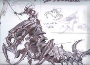 Falmer ujeżdzający Chaurusa 4 (Conceptart) by Adam Adamowicz