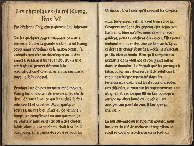 Les chroniques du roi Kurog, livre VI