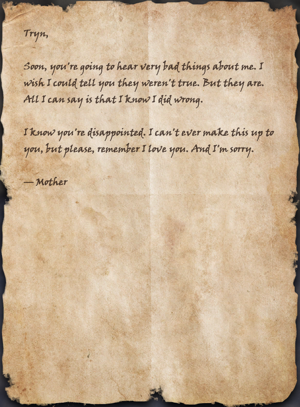 Aera's Letter to Tryn