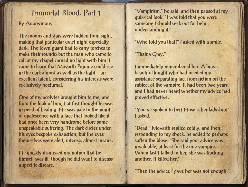 Immortal Blood, Part 1