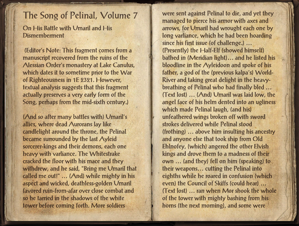 The Song of Pelinal, Volume 7