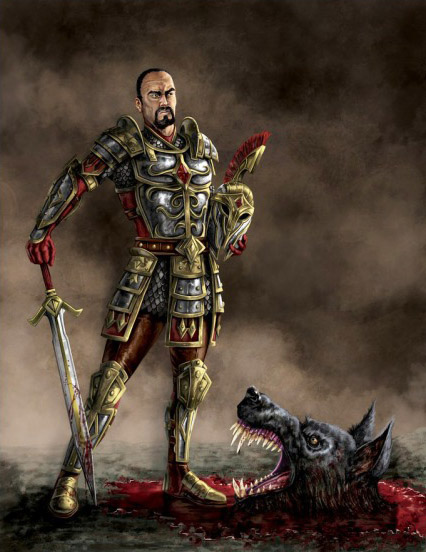 Arms and Armor of the Imperial Champion: Hall Steward Longinus Attius