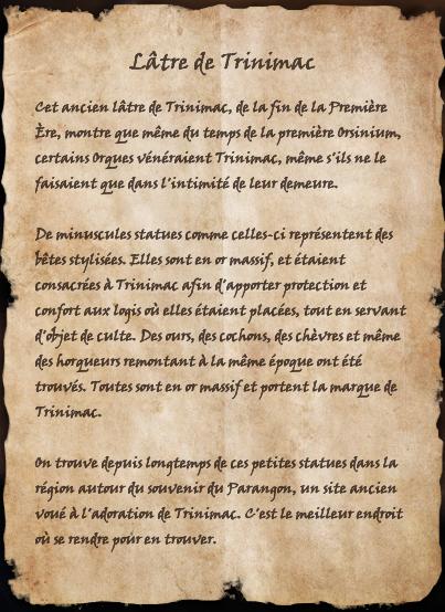 Lâtre de Trinimac (Livre)