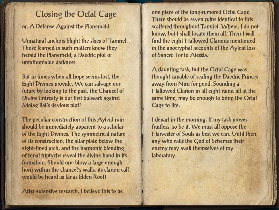 Closing The Octal Cage