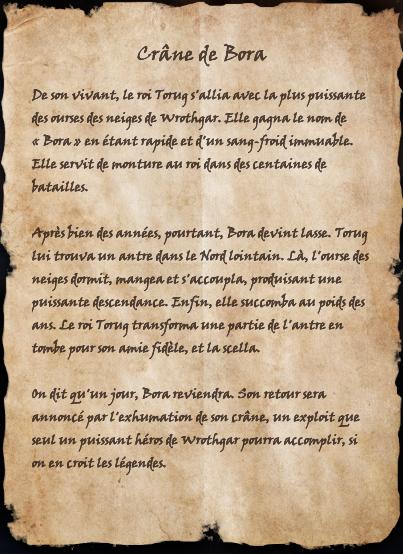 Crâne de Bora (Livre)