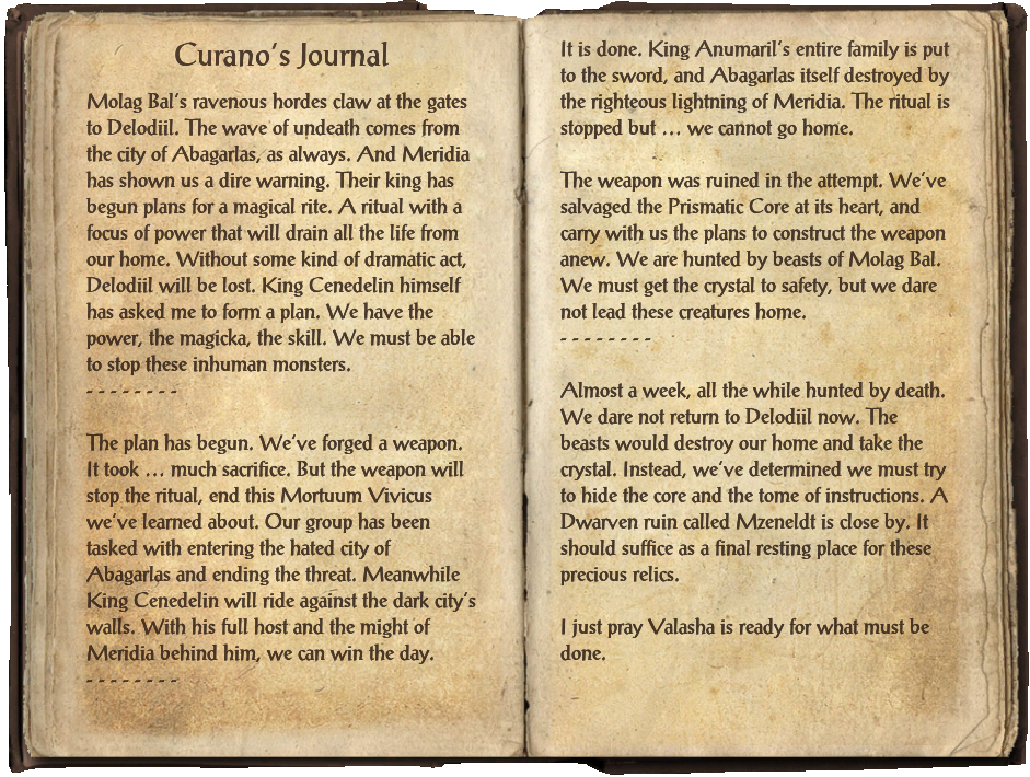 Curano's Journal