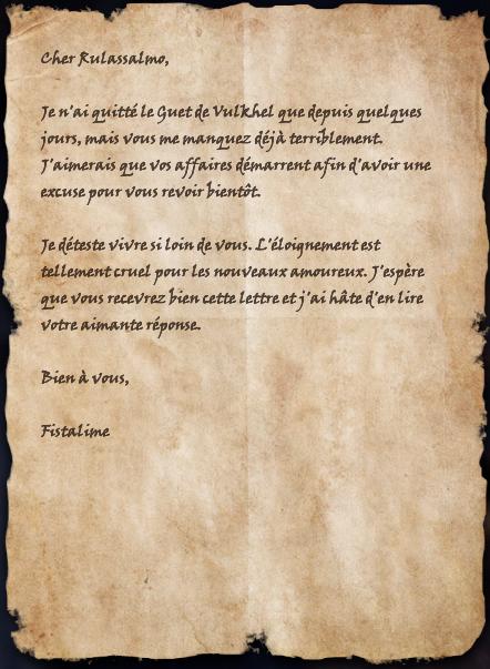 Lettre à Rulassalmo
