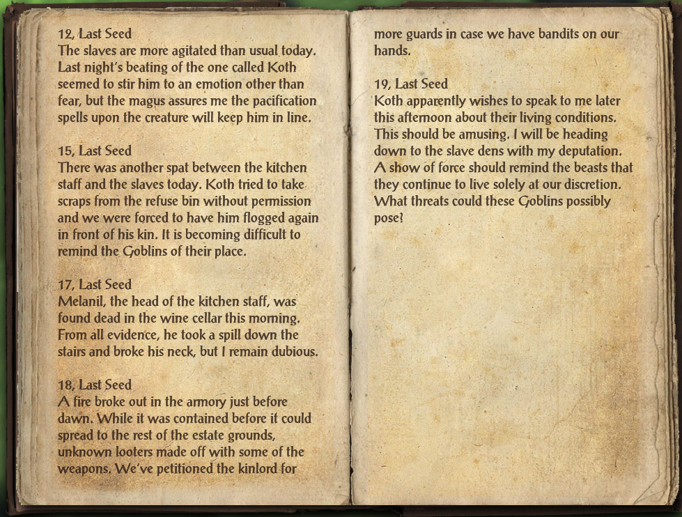 Altmeri Overseer's Journal