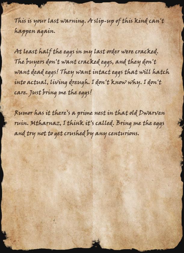 Smuggler's Note (Craglorn)