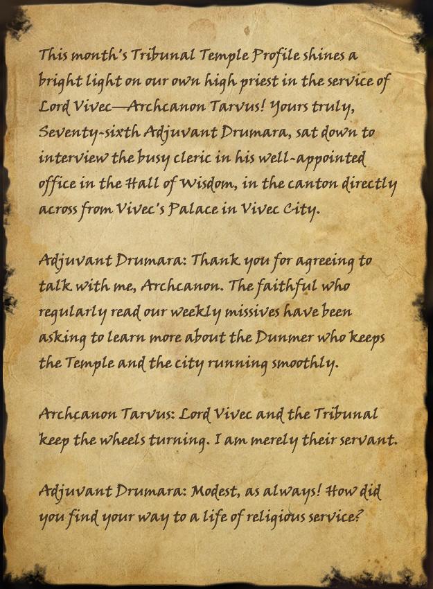 Archcanon Tarvus Interview