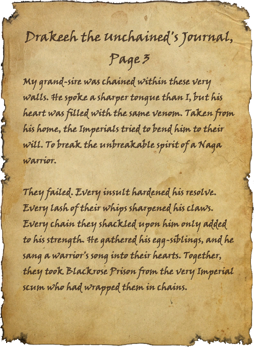 Drakeeh the Unchained's Journal, Page 3