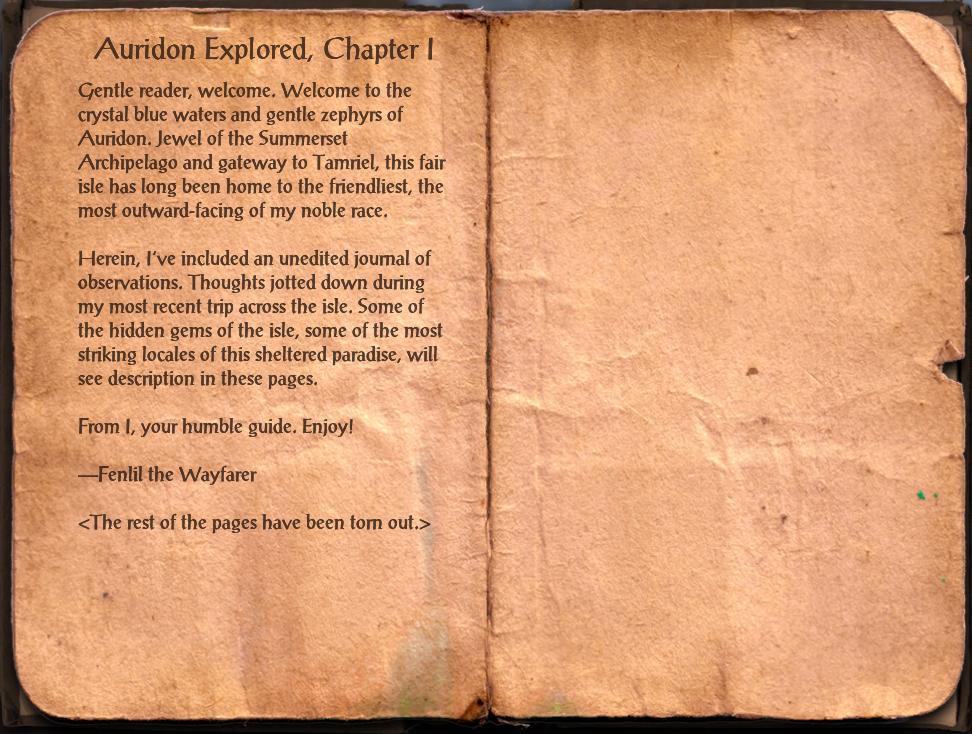 Auridon Explored I