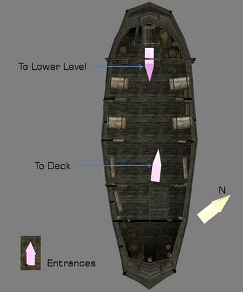 Upper level interior map