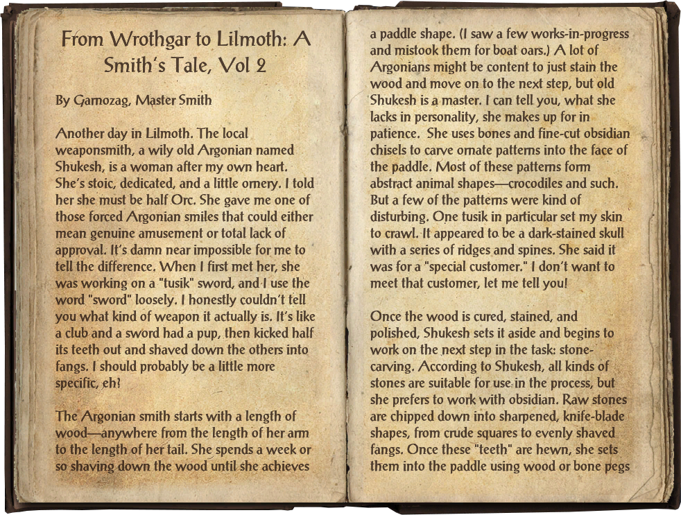 From Wrothgar to Lilmoth: A Smith's Tale, Vol 2