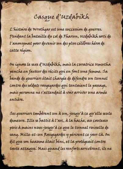 Casque d'Uzdabikh (Livre)