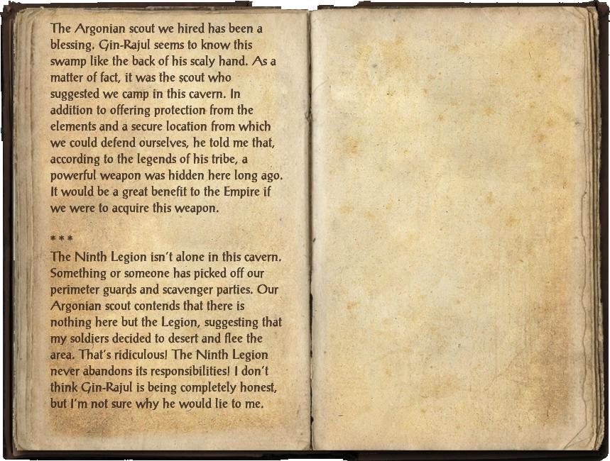 Legion Officer's Notebook